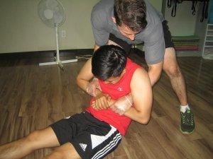 Moving an unconscious victim